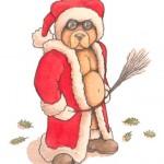 Hot Teddy- Watercolor/Pencil